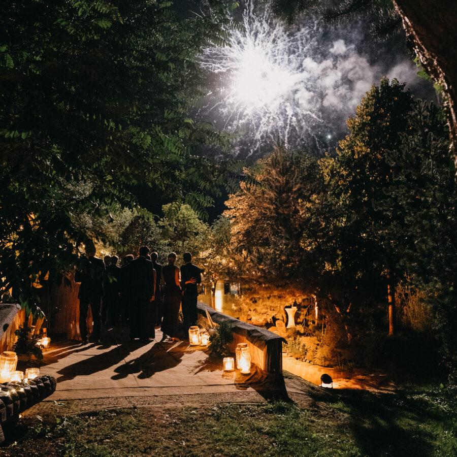 DJ René Pera Feuerwerk Gartenhochzeit