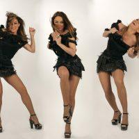 DJ René Pera mit der Sängerin und Tänzerin Irina Milovanova. Zu sehen ist Irina Milovanova.