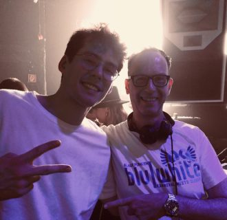 DJ René Pera and Felix from Lost Frequencies at Bootshaus/Cologne.