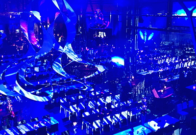 Professioneller DJ René Pera bei einem Firmenevent in der Alte Federnfabrik auf dem Areal Böhler/Düsseldorf.